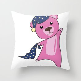 Teddy Bear pink Sleepyhead Teddy Bear Throw Pillow