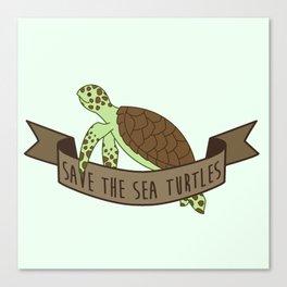 Save the Sea Turtles Canvas Print