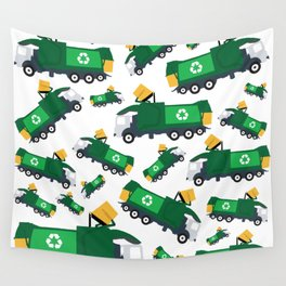 Garbage Truck Toys Truck Pattern Wall Tapestry