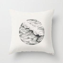 high tide // even higher emotions Throw Pillow