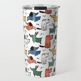 Dogs Animals Prints patterns Travel Mug