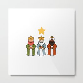 Three Kings Day Christian and Believer Gift Metal Print