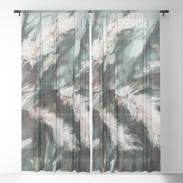 Pampas Grass 1i by Kathy Morton Stanion Sheer Curtain