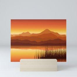 Sunset near Lake Mini Art Print