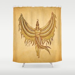 Isis, Goddess Egypt with wings of the legendary bird Phoenix Shower Curtain