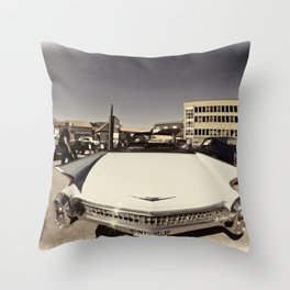 Vintage cabriolet Throw Pillow