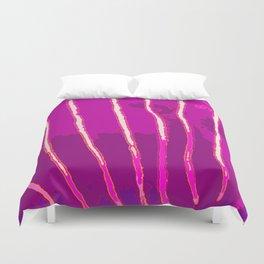 Purple Bongo Stripes Duvet Cover
