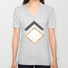 pattern of geometric figures Unisex V-Neck