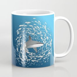 Reef shark and school of fish Coffee Mug