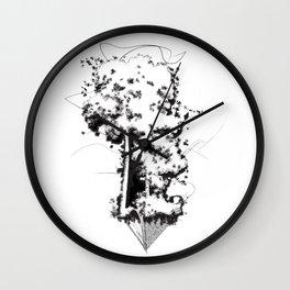 """Uproot & Float"" Wall Clock"