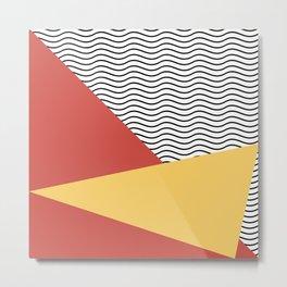 Eighties pop pattern Metal Print