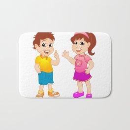 Boy and girl. Bath Mat