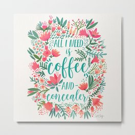 Coffee & Concealer – Juicy Palette Metal Print