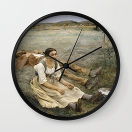 Jules Bastien-Lepage - Hay making Wall Clock