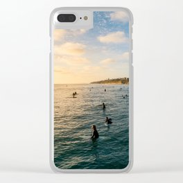Sunset Surf Crew Clear iPhone Case