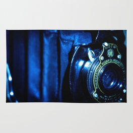 Capturing Yesteryear a vintage Kodak folding camera photograph Rug