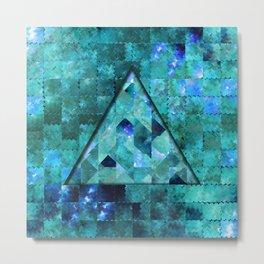 Abstract Geometric Blue Galaxy (triangle) Metal Print