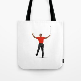 Tiger Woods Masters Champ (White) Tote Bag