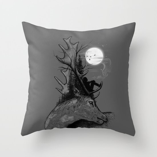 A Long December Throw Pillow