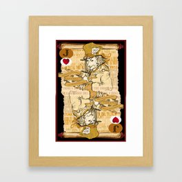 'Mad Hatter' (Alice in Steampunk Series) Framed Art Print