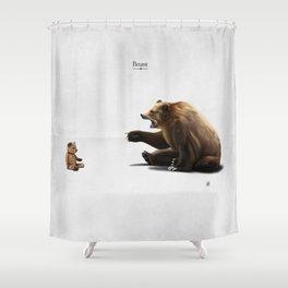 Brunt (wordless) Shower Curtain
