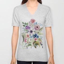 Anemone Squad Goals : Watercolor Floral Unisex V-Neck