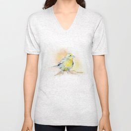 Goldfinch Watercolor Unisex V-Neck