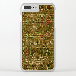 Grunge Wall Of Gold One Clear iPhone Case
