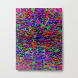 Colorful Triangular Entropy, Version Vivid Metal Print