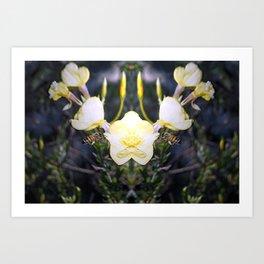 Flowerz and Beez Art Print