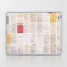 Old Friends Library Circulation Card Print Laptop & iPad Skin