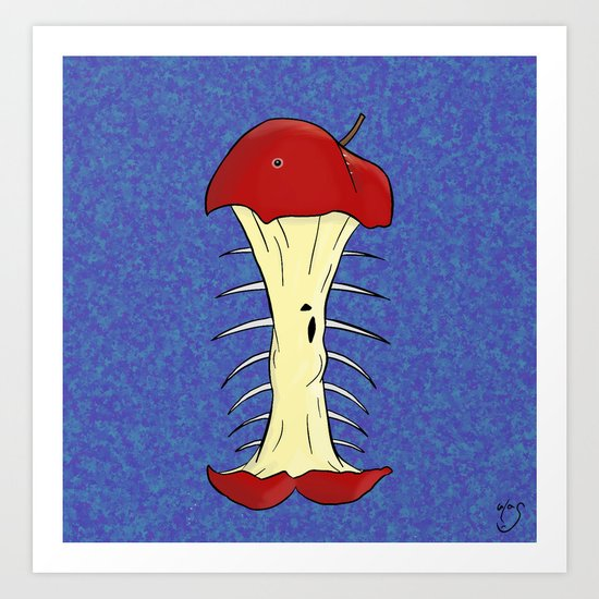 apple fishbone Art Print