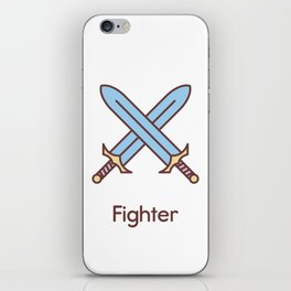 Cute Dungeons and Dragons Fighter class iPhone Skin