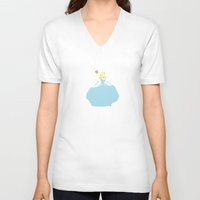 cinderella V-neck T-shirts featuring Cinderella by AliyaStorm
