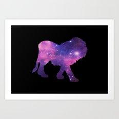 SPACE LION Art Print