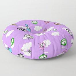 Purple skies Floor Pillow