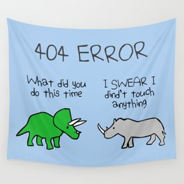 404 Error (Triceratops and Rhino) Wall Tapestry