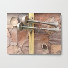 Rusty metal horns Metal Print