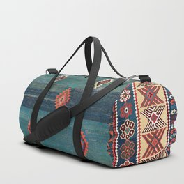 Sivas Antique Turkish Niche Kilim Print Duffle Bag