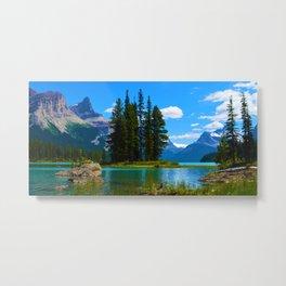Spirit Island on Maligne Lake, Jasper National Park Metal Print