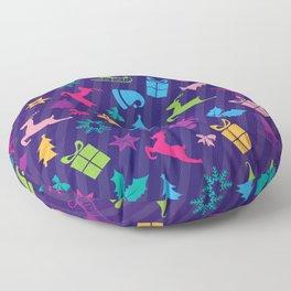 Christmas icons  Floor Pillow