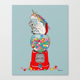 Unicorn Gumball Poop Canvas Print
