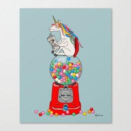 Unicorn Gumball Poop Canvas Print