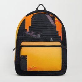 Sunset over Cityscape (Color) Backpack
