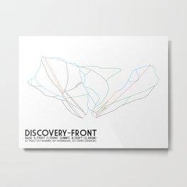 Discovery, MT - Front Side - Minimalist Trail Art Metal Print