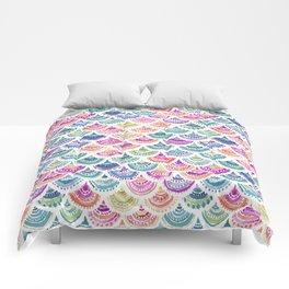 RAINBOW MERMACITA Colorful Mermaid Scales Comforters