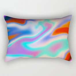 Holographic Abstract Neon Rectangular Pillow