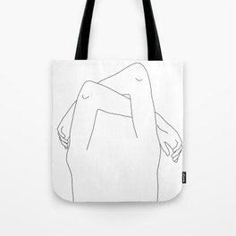 Arms and hands minimal line drawing illustration - Dane Tote Bag