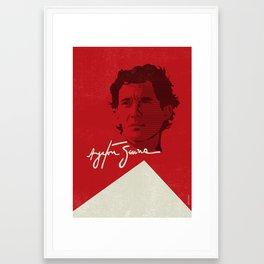 Ayrton Senna Framed Art Print