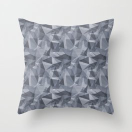 Abstract Geometrical Triangle Patterns 3 Hazy Blue - Seattle Haze Blue Gray - Twinkle Twinkle Throw Pillow